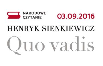 """Zdjęcie Narodowe czytanie """"Quo Vadis"""" Henryka Sienkiewicza"""