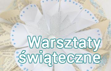 Zdjęcie Warsztaty świąteczne -ozdoby zpapieru ikoronkowa bombka