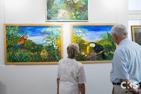 """Relacja Wernisaż wystawy: """"Kogel-mogel zkwiatkiem"""" Anny Lipińskiej-Brody"""