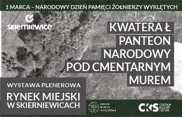 """Zdjęcie Wystawa """"Kwatera Ł – panteon narodowy pod cmentarnym murem"""""""