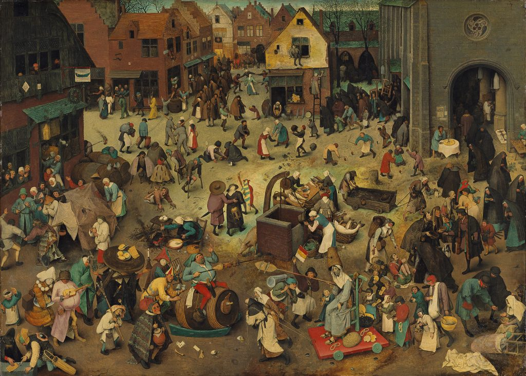 Walka karnawału z postem - Pieter Bruegel