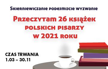 Zdjęcie Przeczytam 26 książek polskich pisarzy