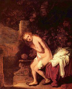 """Zuzanna i starcy"" Rembrandt ("