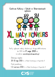 Mały Konkurs Recytatorski - plakat