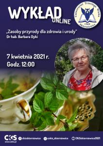 Wykład UTW Barbara Dyki plakat