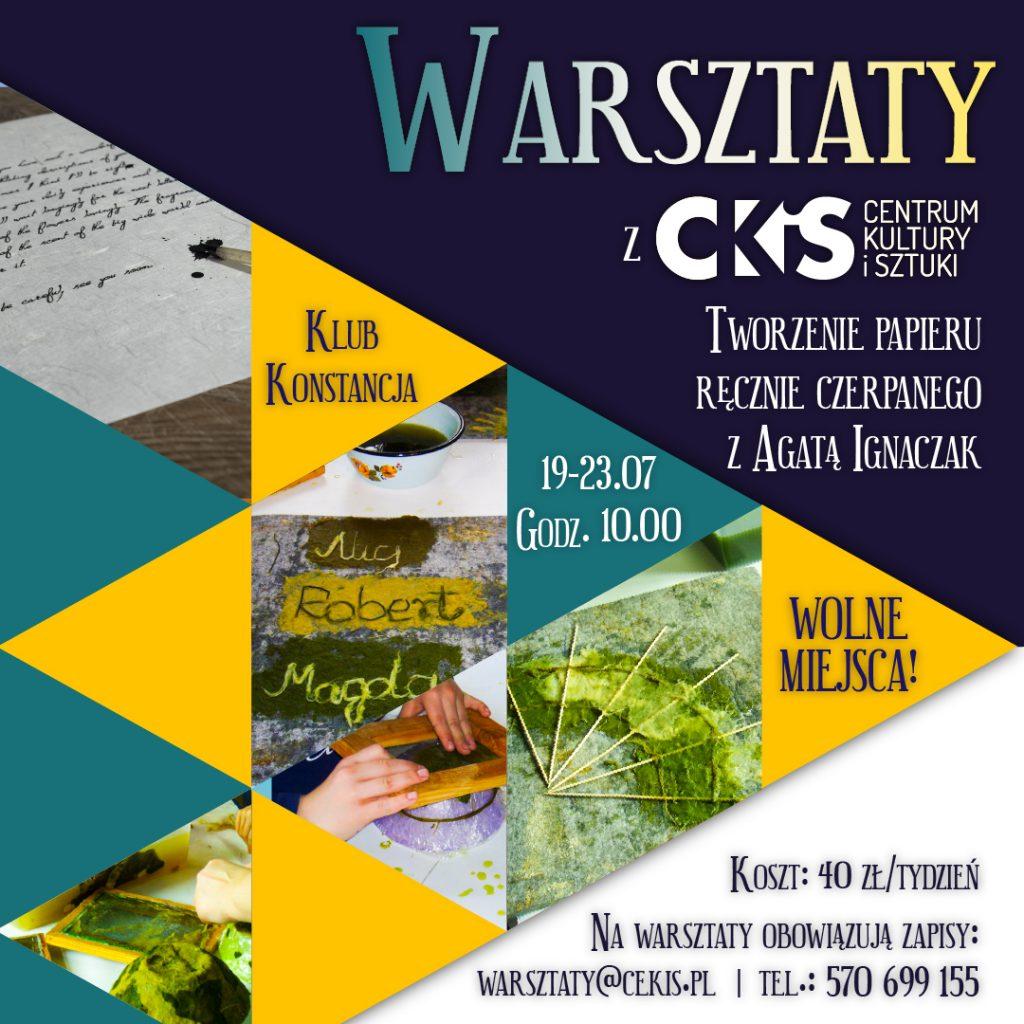 Warsztaty z CKiS: papier czerpany